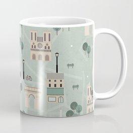 Paris Map Print Illustration Coffee Mug