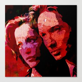 TXF - Mulder and Scully  Canvas Print