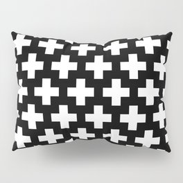 Swiss Cross W&B Pillow Sham