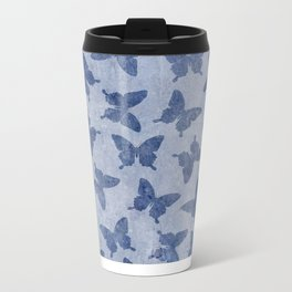 Butterfly Pattern Metal Travel Mug
