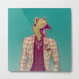 Elwood the Hyena Metal Print