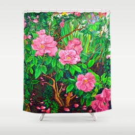 View of Rosa Rugosas (Moje Hammarberg) Shower Curtain