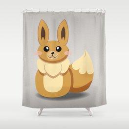 Evolution Bobbles - Eevee Shower Curtain