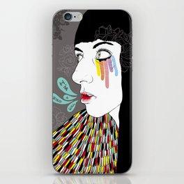 Bird girl iPhone Skin
