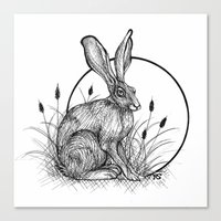 hare Canvas Prints featuring Hare by Rose Ellen Swenson