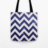 chevron Tote Bags featuring ChEVRON by Monika Strigel