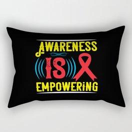 Awareness is empowering Rectangular Pillow