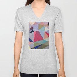 Colourful geometry Unisex V-Neck