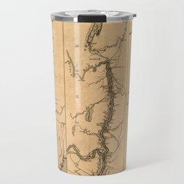 Map Of The Hudson River 1777 Travel Mug