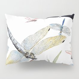 Good Night Surreal Dragonfly Artwork Pillow Sham