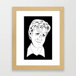 Crying Icon #1 - Dawson Leery - Black & White Variant Framed Art Print