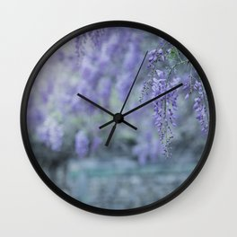 Romantic Wisteria II Wall Clock