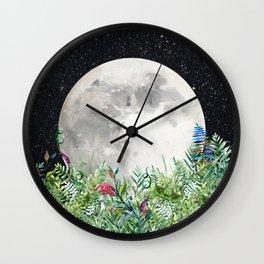 Night Garden Magick Wall Clock