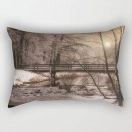Dream time winter landscape Rectangular Pillow