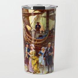 Ben Franklin Returns To Philadelphia Travel Mug