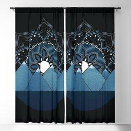 Starry Mountain Mandala Blackout Curtain