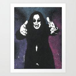 Galactic Ozzy Osborne Art Print