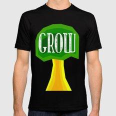 GROW Mens Fitted Tee MEDIUM Black