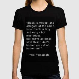 Black is T-shirt