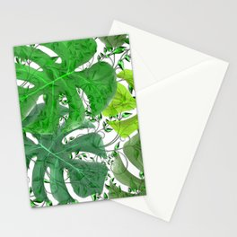 PALM LEAF B0UNTY GREEN AND WHITE Stationery Cards