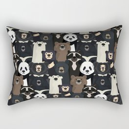 Bears of the world pattern Rectangular Pillow