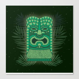 Tiki Mean Canvas Print