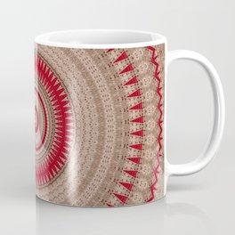 Textured Red Madala Coffee Mug