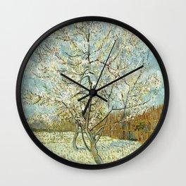 Vincent Van Gogh Peach Tree In Blossom Wall Clock