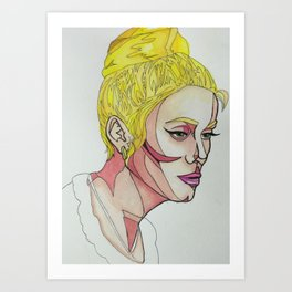 Catherine Deneuve Art Print