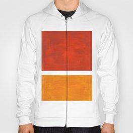 Burnt Orange Yellow Ochre Mid Century Modern Abstract Minimalist Rothko Color Field Squares Hoody
