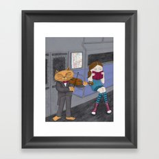 The Cat & the Fiddle on the Subway Framed Art Print