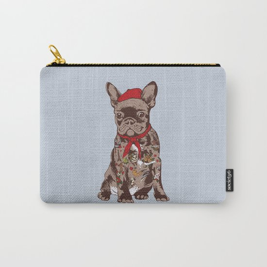 French Bulldog Tattoo Carry-All Pouch