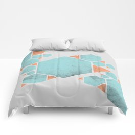 Geometric Hexagons and Triangles Comforters