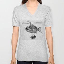 Weebits Flying Fish Excursion Unisex V-Neck