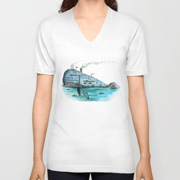 Steamboat Whale Unisex V-Neck