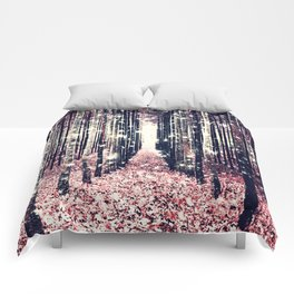 Magical Forest Millennial Pink Pewter Elegance Comforters