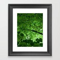 Among the leaves Framed Art Print