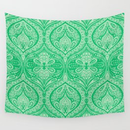 Simple Ogee Green Wall Tapestry
