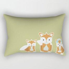 See, Hear & Speak No Fox Rectangular Pillow