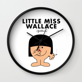 Little Miss Wallace Wall Clock