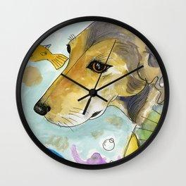 Wesley Seahorse Wall Clock