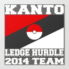 Kanto Ledge Hurdling Team White Outliens Canvas Print