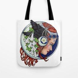 Moon Raven by Bobbie Berendson W Tote Bag