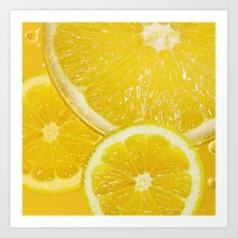 Juicy Lemon Slices Fruit Design Art Print