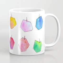 We Love Our Colors, Why Not? (Apples) fruit pattern food colorful illustration kitchen art unique Coffee Mug