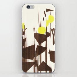 abstract blurred figures iPhone Skin