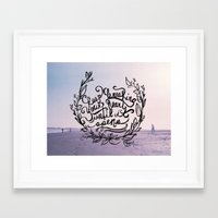 breaking Framed Art Prints featuring Breaking by Jessee Fish
