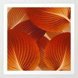 Leaves in Terracotta Color #decor #society6 #buyart Art Print