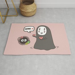 No-Face in Love of SootBall Rug