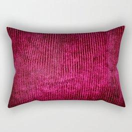 Burgundy Corduroy  Rectangular Pillow